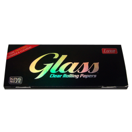 Glass, 40 transparent cigarette papers, King Size