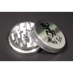Black Leaf Gecko Alu-Grinder with magnet, two-parts