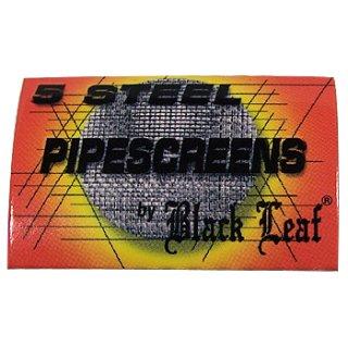 Black Leaf Pfeifensiebe aus Stahl, Ø 20mm 5 Stück