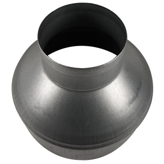 Ducting reducer made of metal, � 10/20cm