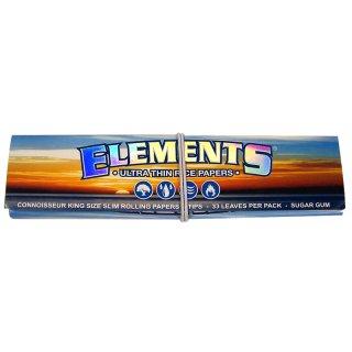 ELEMENTS, King Size Slim 108 x 44mm 33 Blatt + Tips