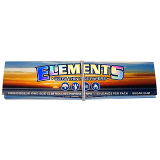 ELEMENTS, King Size Slim 108 x 44mm 33 Blatt + Tips