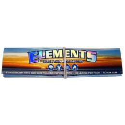 Elements, King Size Slim with Tips, 33 leaves
