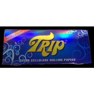 Trip, 50 transparent cigarette papers, King Size (108mm x 42mm)