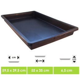 Sowing dish, ca. 40 x 60cm
