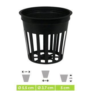 GHE Net Pot round for hydroponics and aeroponic plant cultivation, Ø 5,5cm Height 5cm