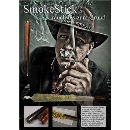 SmokeStick aus Pfeifenholz, Länge ca. 7,5cm