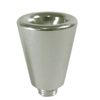 Aluminium pipe bowl, conical, height ca. 3 cm