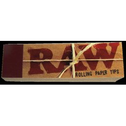 Raw filter tips, unbleached, 18 x 60mm, 50 sheets