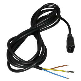 Remote power cable, ca. 5m long, with PC plug, 3x1.5mm