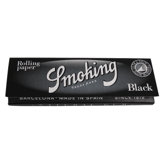 SMOKING Deluxe Black, Regular 70 x 37mm 50 Blatt