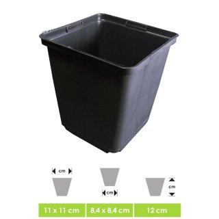 Label pot, square, ca. 11 x 11 x 12 cm Vol. 1,2 Ltr