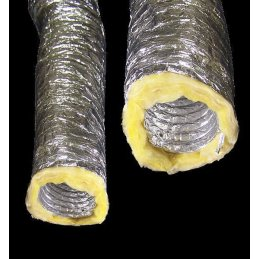 Aluminium air hose, Ø 100mm, sound-insulating,...