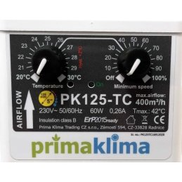 Prima Klima Tube fan, Ø 125mm, 360m³/h, with...