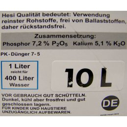HESI phosphorus plus, 10Ltr. final bloom fertilizer for soil