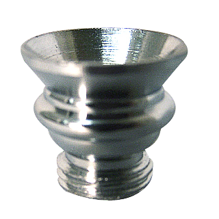 Metal pipe bowl, height ca. 1.5 cm, conical