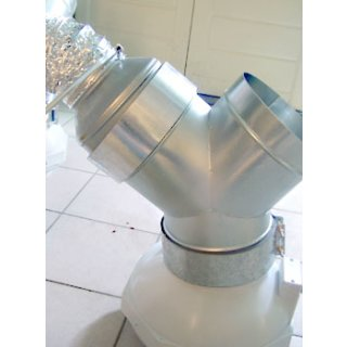 Ducting reducer made of metal, Ø 16/20cm
