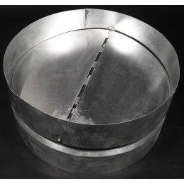 Back pressure flap from metal, Ø 25cm