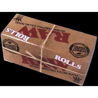 RAW Rolls, 3 meters reel of cigaret papers, unbleached
