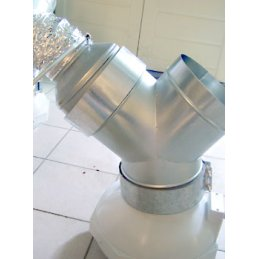 Ducting reducer made of metal, Ø 10/12cm