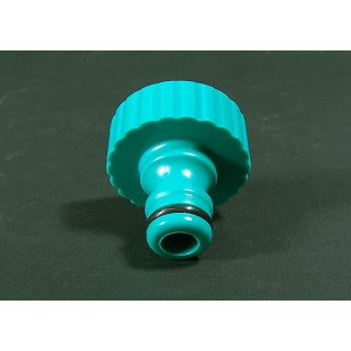 Tap adapter for 2.54cm (1) thread, PVC