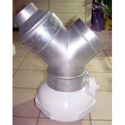 Ducting reducer made of metal, Ø 12/16cm