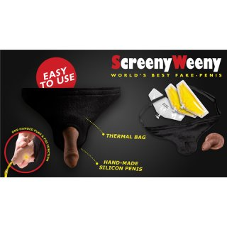Screeny Weeny Kit - Black, circumcised -  by Clean Urin