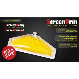 Screeny Weeny refill pack, synthetic urine, 70ml