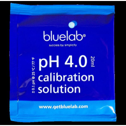 bluelab, calibration solution, pH 4.0, 20ml