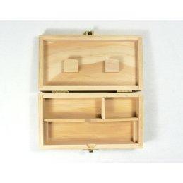 Black Leaf Spliff Box, 15cm x 8cm x 4.5cm
