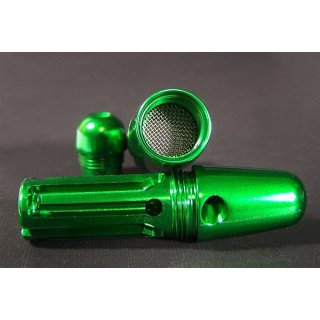 Amazed, high-end purepipe, green, aluminium, ca. 8 cm