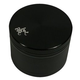 Black Leaf Alu-Grinder, black, 4-parts, Ø 50mm