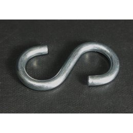 S-hook for knotted link chain, size: large