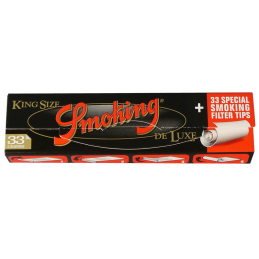 SMOKING Deluxe Black, King Size Slim 108 x 44mm 33 Blatt...