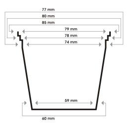 Netztopf rund, Ø 8,5 cm Höhe 7 cm