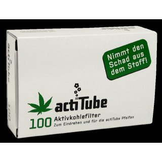 actiTube activated charcoal filter for pipes and cigarettes, 100