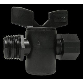 PE stopcock 3/4 inch inner/ outer thread
