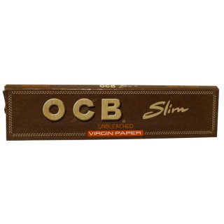 OCB Virgin, King Size Slim Ultra Thin 32 Blatt ungebleicht