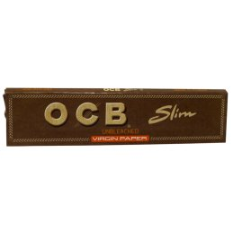 OCB King Size Slim Virgin, unbleached, 32 papers