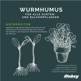 Hubey Wurmhumus, 5 Liter Eimer Wurmdünger Wurmmist