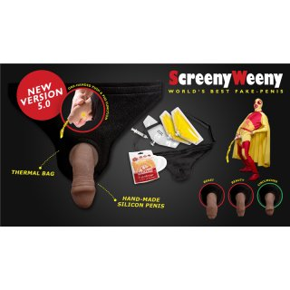 Screeny Weeny Kit - Latino Brown, circumcised - by Clean Urin