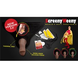 Screeny Weeny Set - Latino Brown, beschnitten - von Clean Urin