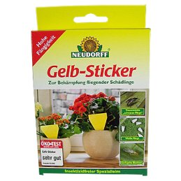NEUDORFF Yellow sticker - triangular, height 13cm