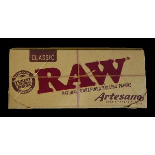 RAW Artesano, King Size Slim papers, plus filtertips & tray