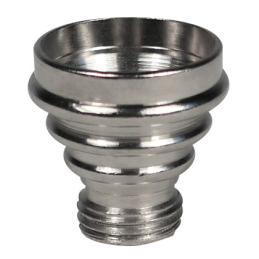 Aluminium pipe bowl, conical, height ca. 1.5cm