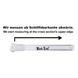 Black Leaf Kupplung, Länge 15cm Schliff 18/8 > 14/5 Wirbeldüse
