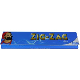 ZIG-ZAG Blue King Size Slim 32 Sheets