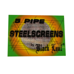 Black Leaf Steelscreens, 5 pieces Ø 25mm