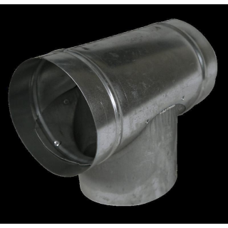 T-piece from metal, � 160mm, tube connector