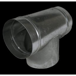 T-piece from metal, Ø 160mm, tube connector